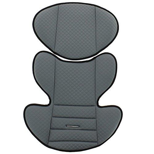 Mycarsit - Kinderautositz PILOTE, ECE Gruppe 0/1 (0 bis 18kg), bis 10kg REBOARD nutzbar, Gris foncé - 2