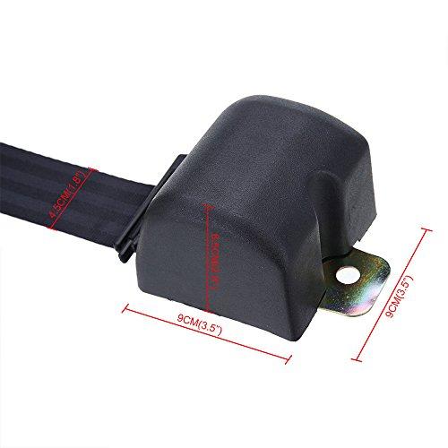 Universal 3 Punkt Automatik Sicherheitsgurt Auto Gurtpeitsche Beckengurt Gurtlänge - 2,5 Meter - 4