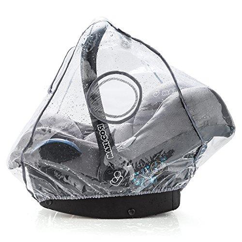 Universal Komfort Regenschutz für Babyschale (z.B. Maxi-Cosi / Cybex / Römer) | gute Luftzirkulation, verschließbares Kontakt-Fenster, Eingriffsöffnung für Tragegriff, PVC-frei