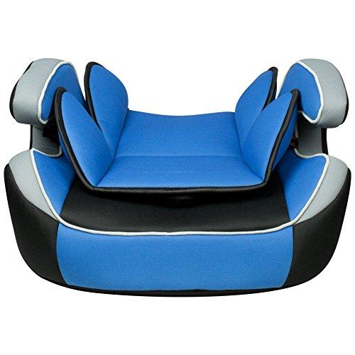 XOMAX XM-K4 BLUE Kindersitz 9-36 kg, Gruppe I / II / III, ECE R44/04 geprüft, Farbe: Blau, Schwarz, Grau + mitwachsend + 5-Punkte-Sicherheitsgurt + Kopfstütze verstellbar + Rückenlehne abnehmbar / Bezüge abnehmbar & waschbar - 3