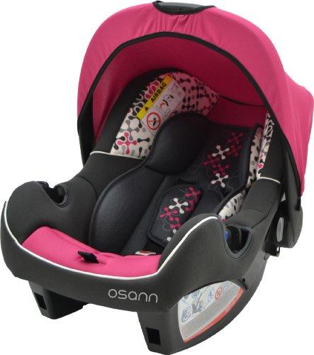 Osann Babyschale Babytrage Kinderautositz BeONE SP Corail Framboise pink rosa, 0 bis 13 kg, ECE Gruppe 0 +, von Geburt bis ca. 15 Monate, mit Verdeck